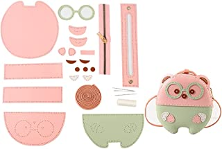 Lnrueg Pink & Green Keys Girls Teenagers Ladies Cellphone Single Lipsticks Tissue Shoulder Bag Making Kit DIY Faux Leather...