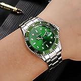 Bokeley Luxury Men's Wrist Watch - Stainless Steel Band - Chronograph Watch - Japanese Quartz Movement (Green)
