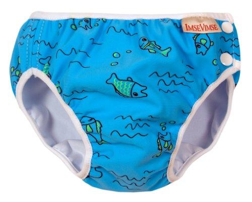 ImseVimse Schwimmwindeln für Jungen 6-8 kg / S wasserblaue Fische