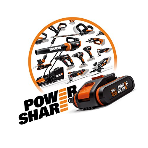 WORX WX366.5 18V (20V Max) Cordless Combi Hammer Drill with x2 Batteries