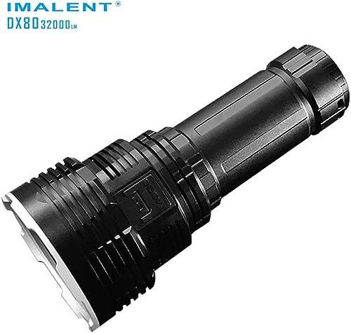 Imalent - DX80- Lampe torche à LED ultra puissante avec batterie intégrée rechargeable - 3200 lm - Type de LED   Cree XHP70