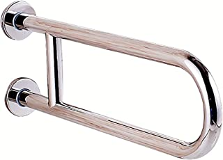 Shop-Safety Grab Rails Stainless Steel Bathroom U-Shaped Grab Bar Handrail/Wall Mounted Straight Towel Holder/Shower Aid & Safety Support Handrail, 600mm Length