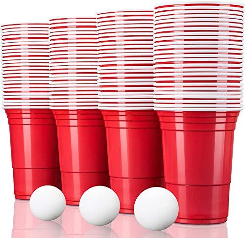 TRESKO® Vaso para fiestas vaso de plástico, vaso de plástico para bebidas,...