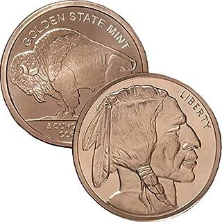 5 oz .999 Pure Copper Round/Challenge Coin (Buffalo Nickel Design)