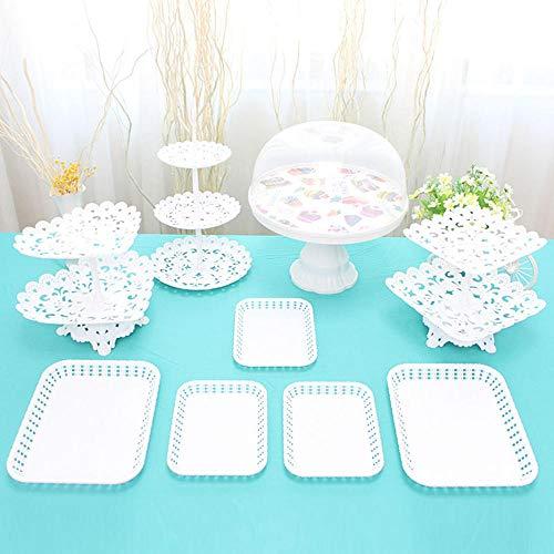Feestartikelen Verjaardag Arrangement Dessert Tafel Decoratie Party Tafelkleed Cake Snack Lade Decoratie H