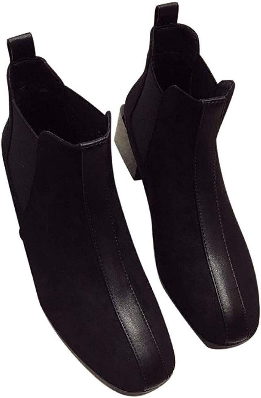 KPHY-Sautope Tacco 5 Cm di Altezza Spesso A Testa rossoonda Caviglia Sautope 100 di Serie Camoscio Martin Stivali