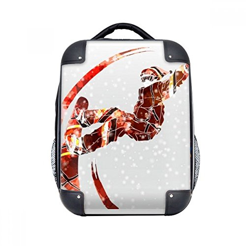 DIYthinker Sport Skateboard Aquarell Skifahren Illustration Hard Case Schulter Kind-Rucksack-Geschenk 15