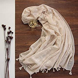 Winter Long Scarf Spring and Autumn Scarf Fashion Small Fresh Wild Female Oversized Shawl Thin Scarf Dual-use (Color : Pink) Winter Soft Scarf (Color : Beige)