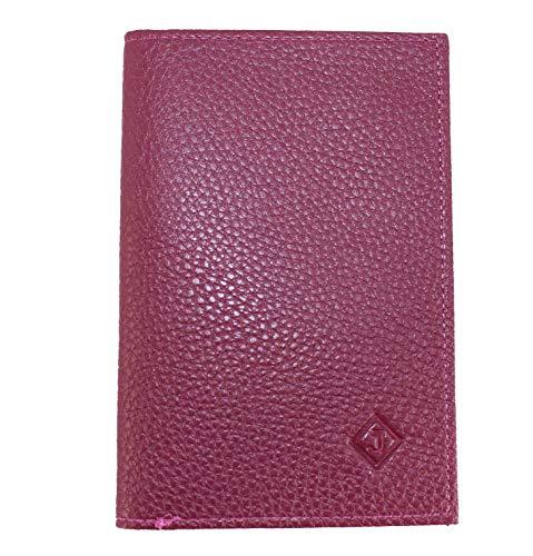 Frédéric Johns® – Papierhalter fürs Auto aus Leder – Format 4 Klappen – Schutzhülle für Kreditkarte, Führerschein, Karten, sehr komplett, weiches Leder für Damen oder Herren