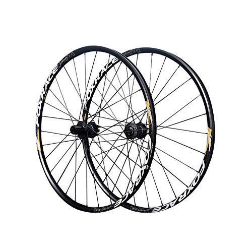 Ruedas para Bicicleta,27,5 Pulgadas, 29 Pulgadas Llanta Aluminio Doble Capa Aleación de Aluminio Tecnología Five Peilin Apto para Bicicletas Bicicleta Montaña Juego de Ruedas Black,29 Inch
