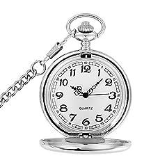 YYSD 50Pcs / Lot Silver/Gold/Black/Bronze Polished Quartz Pocket Watch Steampunk Watches #1