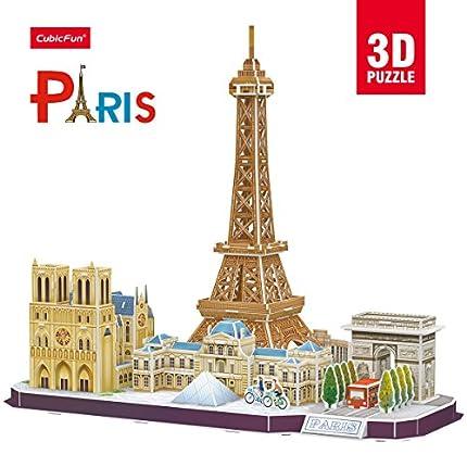 Cubic Fun- Puzzle 3D de la Ciudad de París en Línea (771MC254)
