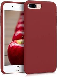 kwmobile Hülle kompatibel mit Apple iPhone 7 Plus / 8 Plus   Handyhülle gummiert   Handy Case in Dunkelrot
