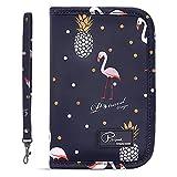 Dizdvizd Portefeuilles Passeport, Imperméable Pochette Organisateur de Voyage - Flamingo