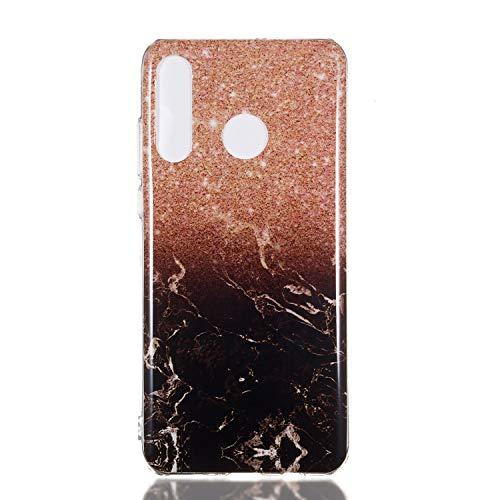 Homikon Silikon Hülle Marmor Muster TPU Handyhülle Ultra Dünn Matt Weiche Schutzhülle Stoßdämpfend Rückseite Soft Flexibel Tasche Case Cover Bumper Kompatibel mit Huawei P30 Lite - #1