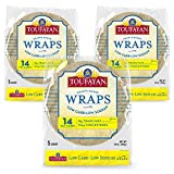 Toufayan Bakeries, Low Carb Tortilla Wraps for Sandwiches, Burritos and Wraps, Low Sodium, Naturally Vegan, Cholesterol Free and Kosher (Low Carb, 3 Pack)