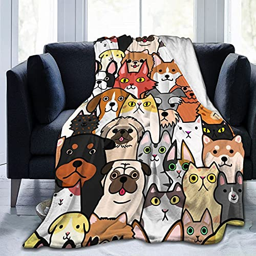 Doodle - Coperta per cani e gatti, ultra morbida, leggera, per adulti e bambini, 120 x 150 cm