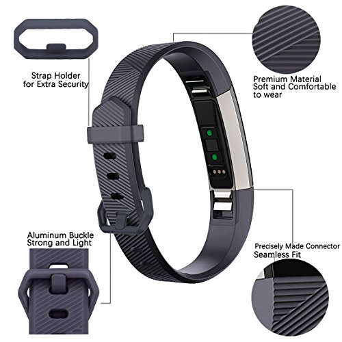 Maledan Replacement Bands Compatible with Fitbit Alta, Alta HR and Fitbit Ace, Classic Accessories Band Sport Strap for Alta HR, Alta and Ace