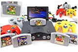 N64 System with Controller, Hookups, and Super Mario 64