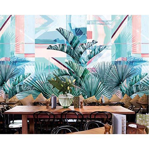 papel tapiz estilo europeo Retro nostálgico selva tropical banana palm TV sofá fondo papel tapiz 3d 140x100cm