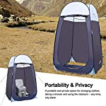 """Leader Accessories Pop Up Shower Tent Dressing Changing Tent Pod Toilet Tent 4' x 4' x 78""""(H) Big Size 8"""