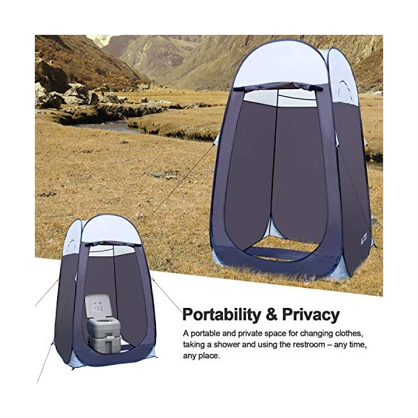 """Leader Accessories Pop Up Shower Tent Dressing Changing Tent Pod Toilet Tent 4' x 4' x 78""""(H) Big Size 1"""
