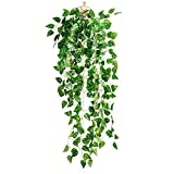 OUNONA Künstliche Gef?lschte Efeu Bl?tter Greenery Vine Pflanzen für Dekor (Scindapsus Leaves)