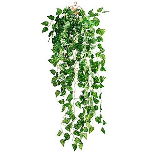 OUNONA Künstliche Gefälschte Efeu Blätter Greenery Vine Pflanzen für Dekor (Scindapsus Leaves)