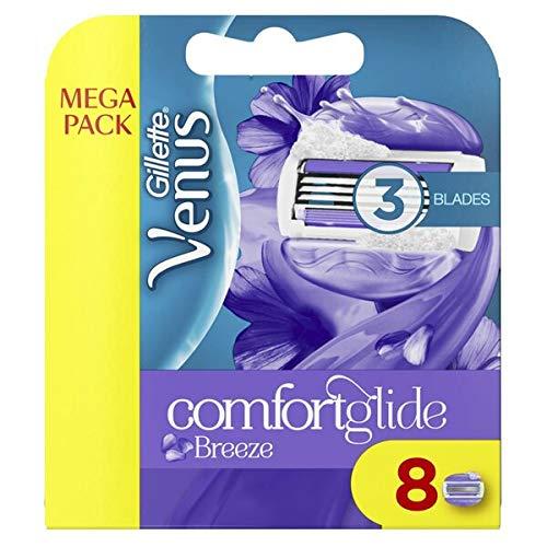 Gillette Venus - cómodas hojas de afeitar, dispositivo y hoja de brisa deslizante - 8 hojas