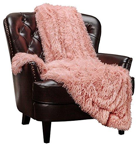 Chanasya Shaggy Longfur - Cobija de piel sintética para sofá, cama, silla, foto (50 x 65 pulgadas)