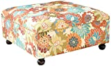 Madison Park Carlyle Coffee Table-Solid Wood Square Large Accent Cocktail Ottoman Modern...