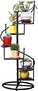 PPCP Rotating 6-Layer Flower Stand Iron Metal Flower Stand Plant Flower Pots Standing Shelf Standing Shelf Garden Storage ...