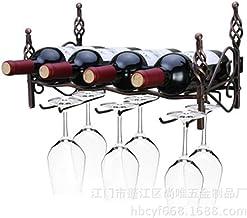 QXM demontage en montage van wandmontage vier flessen van zes glazen wijnrekken Europese smeedijzeren wijnglas en wijnrekken