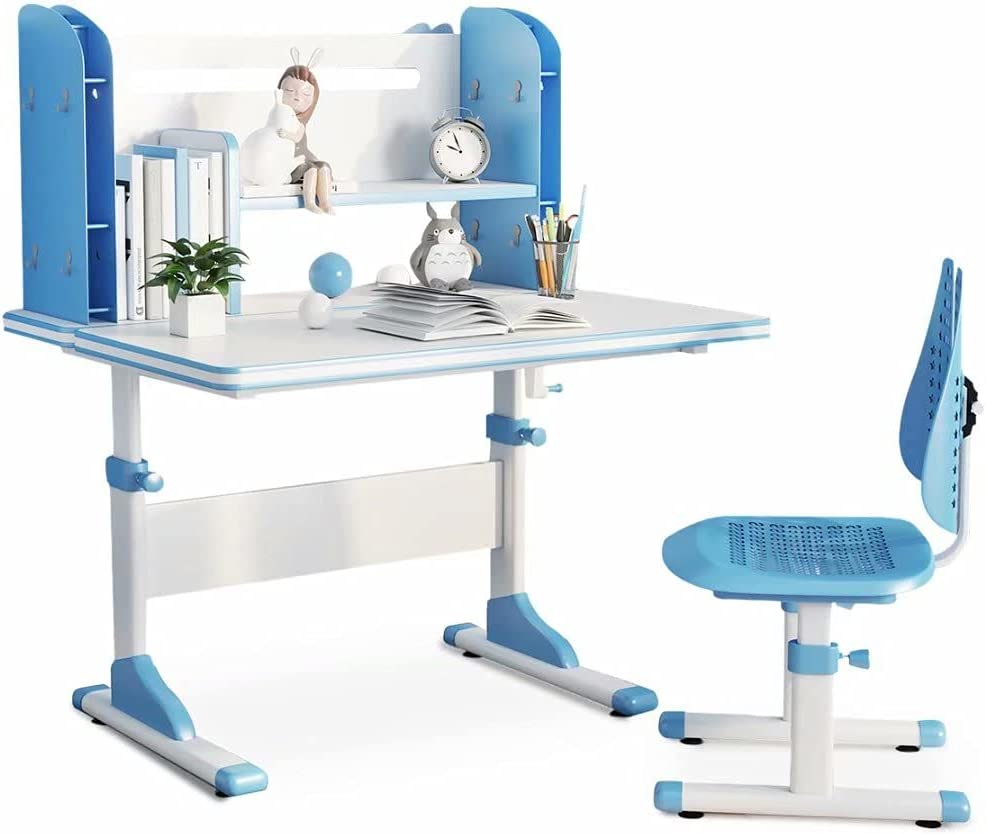 SÄKEE Kids Year-end gift Desk with Superior Chair Adjustable Children Height Set School