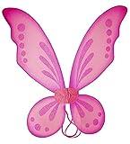 Kam Wing Cheong KWC - Pixie Fairy Wings Tinkerbell Princess Tutu Dress up Costume (Hot Pink)