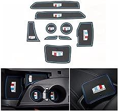 Dwindish 9 Pcs Door Groove Mat Interior Accessories Parts Rubber Silica Gel Cup Mat Pad for Chevrolet Camaro 2016 Up