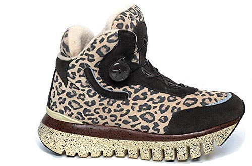 Fornarina , Damen Sneaker Braun Marrone leopardato