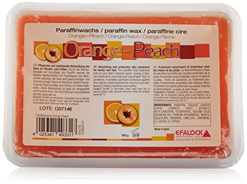 Efalock Professional Paraffinwachs, Orange-Peach, 1er Pack, (1x 0,5 kg)