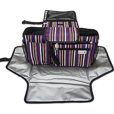 Kit de lujo bolsa de pañales Pad y organizador de carrito de almacenamiento extra, portátil Changin estación, Universal