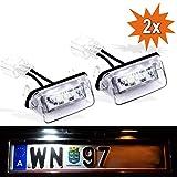 Do!LED de iluminación para matrícula, para varios modelos Peugeot y Citroen, con certificado E, lámpara de xenón