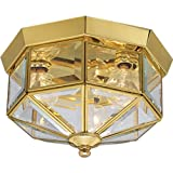 Progress Lighting P5788-10 Close-to-Ceiling, 9-Inch Diameter x 7-Inch Height, Brass