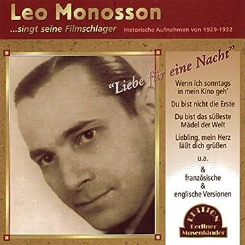 Leo Monosson singt seine Filmschlager