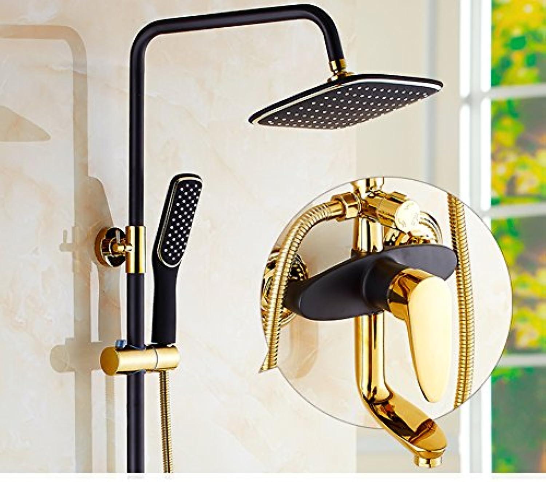Dusche Set Wandhalterung,Bronze,Hausgebrauch,Regen Bidet Wasserhahn Und Eckige Dreiwegeventil Europisch Anmutenden Duschen-C