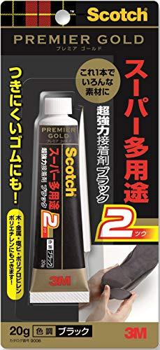 スコッチ 超強力接着剤 プレミアゴールド スーパー多用途2 ブラック 20g