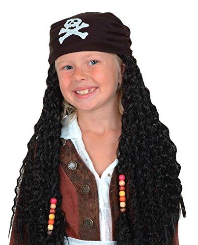 Rire Et Confetti - Fiepir037 - Accessoire pour Déguisement - Perruque - Bandana + Cheveux - Pirate Enfant