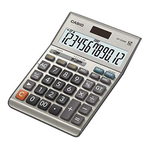 CASIO Tischrechner DF-120BM, 12-stellig, Steuerberechnung, Cost/Sell/Margin, Solar-/Batteriebetrieb