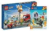 Collectix Lego City 60214 - Juego de accesorios de bomberos en restaurante de hamburguesas y diversión para bomberos (cubierta blanda)