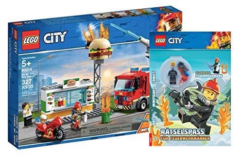 Collectix Lego City - Set: 60214 Feuerwehreinsatz im Burger-Restaurant + Rätselspaß für Feuerwehrmänner (Softcover)
