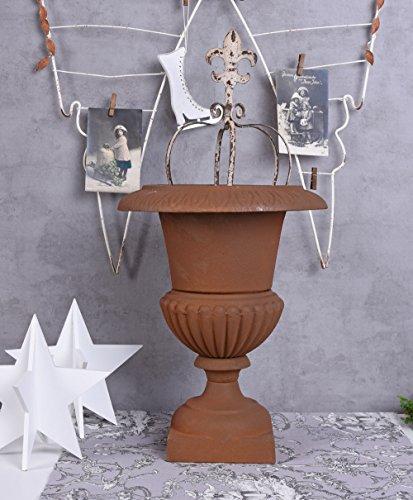 Blumenkübel Gusseisen Kratervase Rost Amphore Gartenvase Pflanzpokal Blumentopf Palazzo Exklusiv