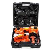 BANER TECH TZ01 12V DC Electric Hydraulic Floor Jack & Tire Inflator Pump & Electric Wrench Mutifunction Tire Repair Set,Car Repair Tool Kit